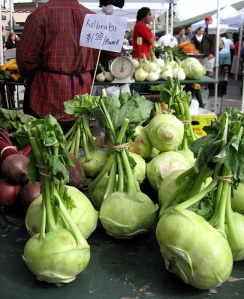 Kohlrabi at Pike Place Market courtesy Lisa Norwood: http://www.flickr.com/photos/lisanorwood/